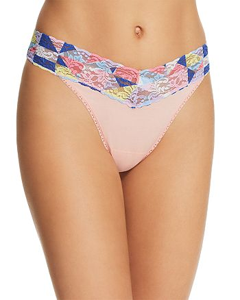 Hanky Panky - Lace Waistband Original-Rise Thong - 100% Exclusive
