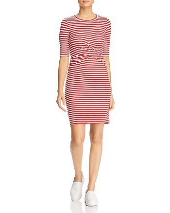 Three Dots - Nantucket Stripe Twist-Front Dress