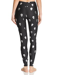 Terez - Metallic Skull Print Leggings