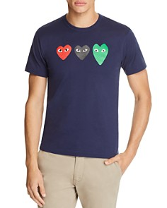 Comme Des Garcons PLAY Three Hearts Short Sleeve Tee - Bloomingdale's_0