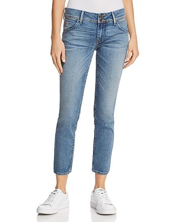 Hudson - Collin Mid Rise Skinny Jeans in Hushed