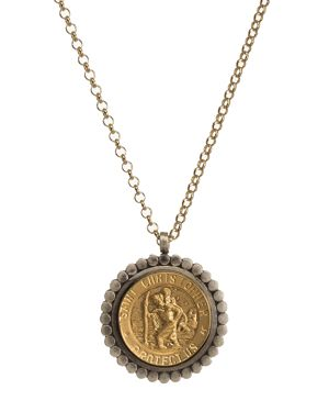 Dogeared Bon Voyage Saint Pendant Necklace, 18