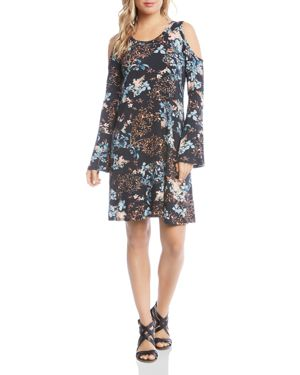 Karen Kane Floral-Print Cold-Shoulder Dress 2837051