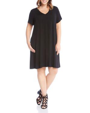Karen Kane Plus Quinn V-Neck Pocket Dress 2837592