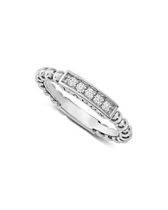 LAGOS Sterling Silver Caviar Spark Diamond Stacking Ring - Bloomingdale's_0