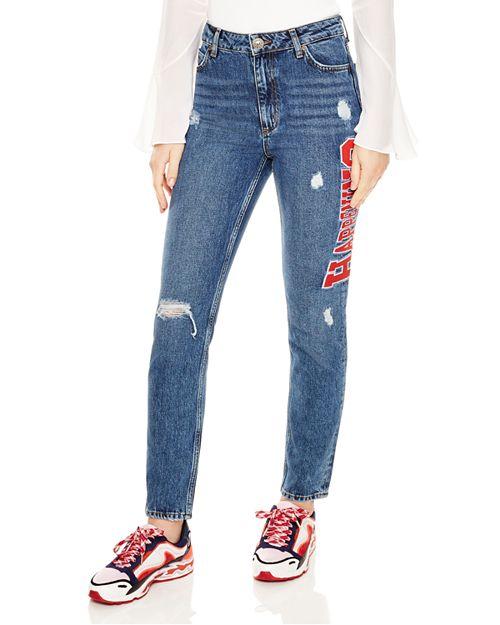 "Sandro - Hortense Distressed ""Happening"" Jeans"