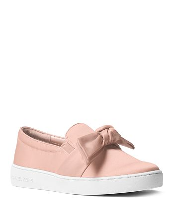 6c3220e9638f MICHAEL Michael Kors Women s Willa Satin Bow Slip-On Sneakers ...