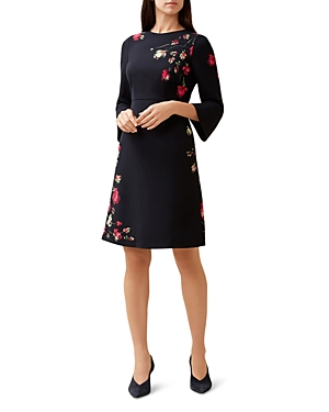 Hobbs London Painted Rose Dress