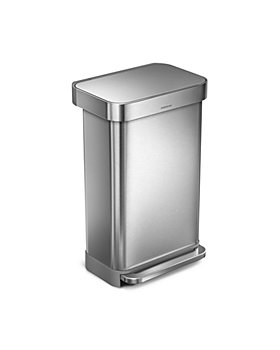 simplehuman - 45L Rectangular Step Can with Liner Rim
