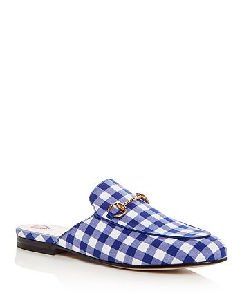 Gucci - Women's Princetown Gingham Mules