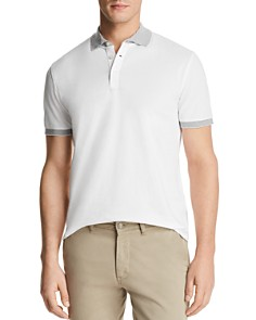 The Men's Store at Bloomingdale's Mini Piqué Tipped Short Sleeve Polo Shirt - 100% Exclusive_0