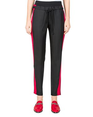 THE KOOPLES STRIPED CROPPED TRACK PANTS