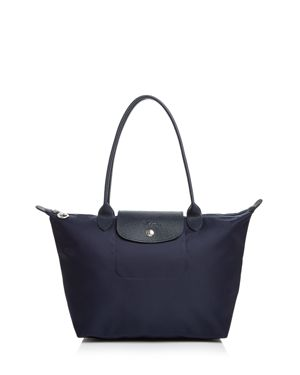LONGCHAMP SMALL LE PLIAGE NEO NYLON TOTE - BLUE