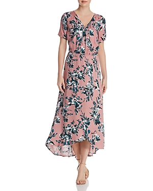 Splendid Floral Print Faux-Wrap Maxi Dress