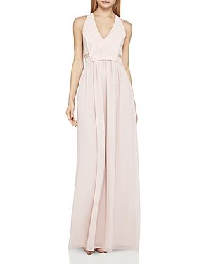 BCBGeneration Lace-Inset Chiffon Gown