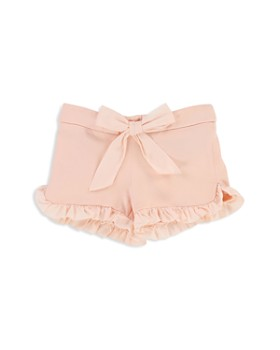 Chloé - Girls' Ruffled Fleece Shorts with Bow - Baby