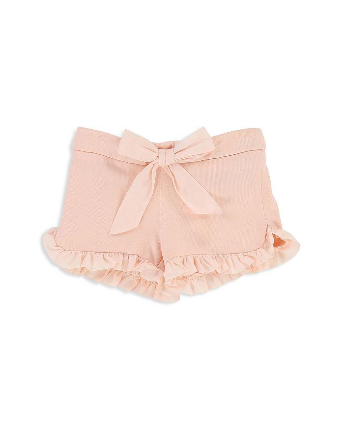 Chloé - Girls' Ruffled Fleece Shorts with Bow - Baby