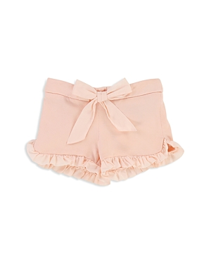 Chloe Girls Ruffled Fleece Shorts with Bow  Baby