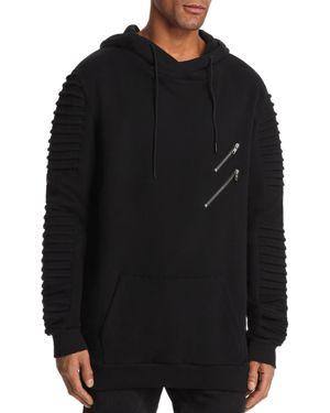 NANA JUDY Nana Judy Montana Biker Sleeve Hooded Sweatshirt in Vintage Black