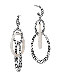 John Hardy Sterling Silver Classic Chain White Agate Oval Link Drop Earrings - Bloomingdale's_0