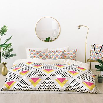 Deny Designs - Elisabeth Fredriksson Triangles in Triangles Bed-in-a-Bag, King