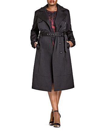 City Chic Plus - Classic Belted Trench Coat