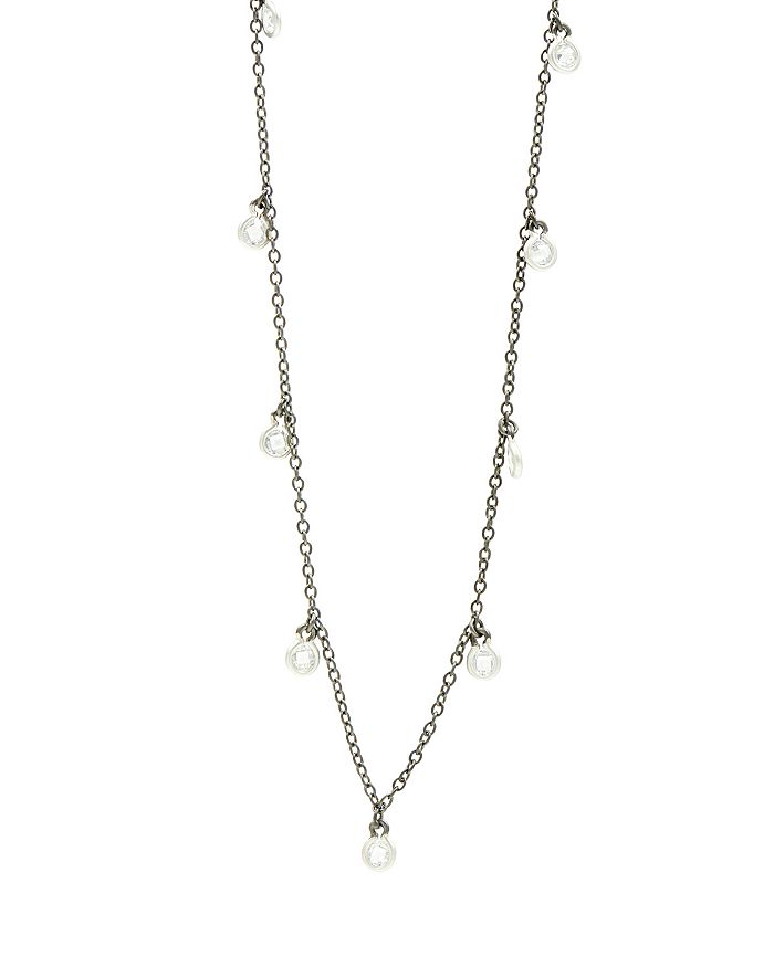 Freida Rothman Bezel Drop Strand Necklace, 60 In Black Multi