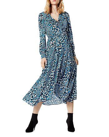 KAREN MILLEN - Leopard Print Wrap Dress