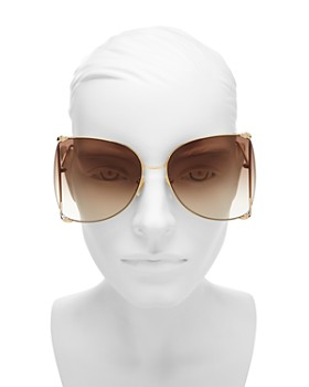Gucci - Women's Oversized Fork Butterfly Sunglasses, 63mm