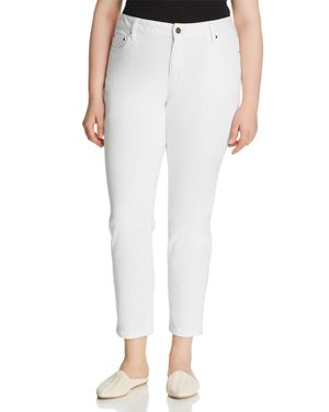Michael Michael Kors Plus Selma Skinny Ankle Jeans in White 2850253