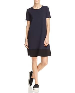 Three Dots Color Block Ponte Shift Dress
