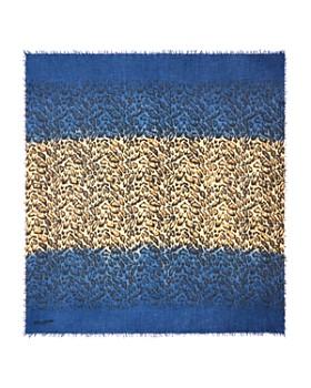 Zadig & Voltaire - Delta Leopard Color Block Scarf