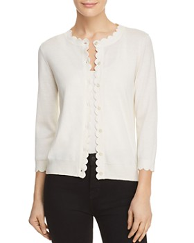 kate spade new york - Scalloped Trim Cardigan