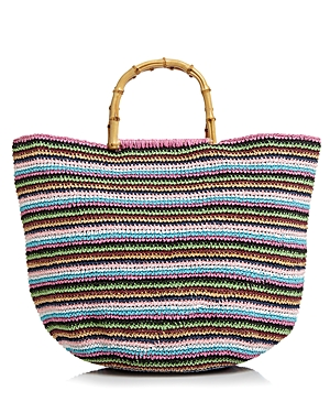 Filippo Catarzi Striped Straw Tote