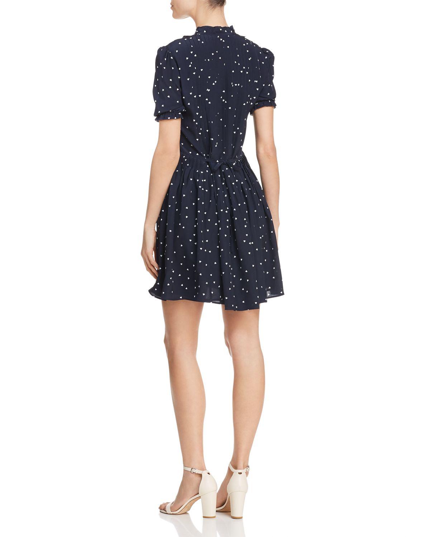 Dame De Ceur Heart Print Silk Dress   100 Percents Exclusive by The Kooples