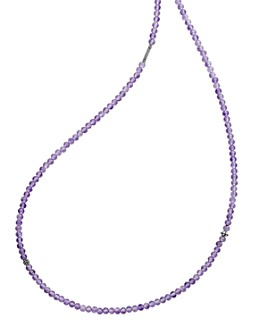 LAGOS - Sterling Silver Caviar Icon Amethyst Five Station Strand Necklace, 34""