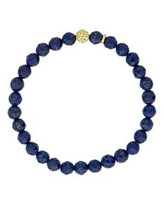 LAGOS - 18K Gold Caviar Icon Lapis Beaded Stretch Bracelet, 6mm