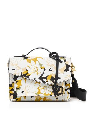 Cobble Hill Floral Leather Crossbody, Warm Floral Multi/Gold