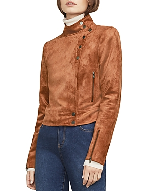 Bcbgmaxazria Hansen Faux Suede Moto Jacket