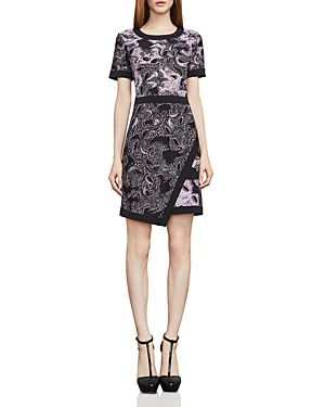 Bcbgmaxazria Olympia Printed Faux-Wrap Dress