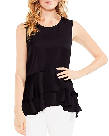 VINCE CAMUTO - Tiered-Peplum Top