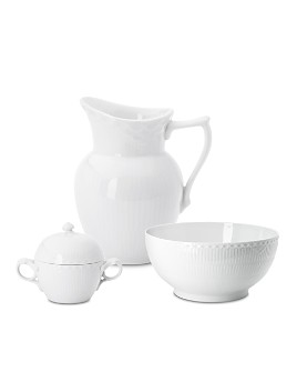 Royal Copenhagen - White Fluted Half Lace Serveware
