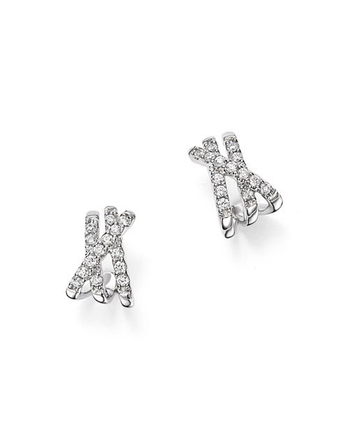 Bloomingdale's - Diamond Crossover Earrings in 14K White Gold, 0.25 ct. t.w. - 100% Exclusive