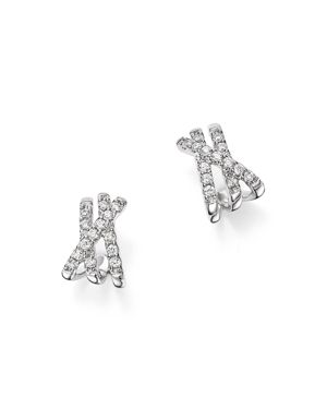 Bloomingdale's Diamond Crossover Earrings in 14K White Gold, 0.25 ct. t.w. - 100% Exclusive
