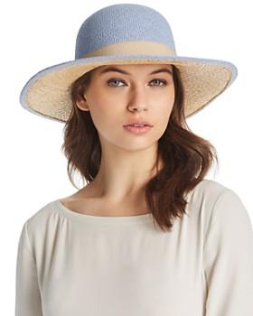 Raffaello Bettini - Ribbon Trim Floppy Sun Hat