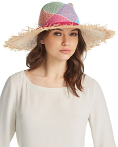 Marzi Diamond Print Wide Brim Fedora - Bloomingdale's_0