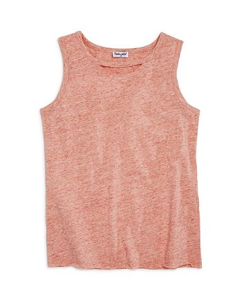 Splendid - Girls' Melange Cutout Tank - Big Kid