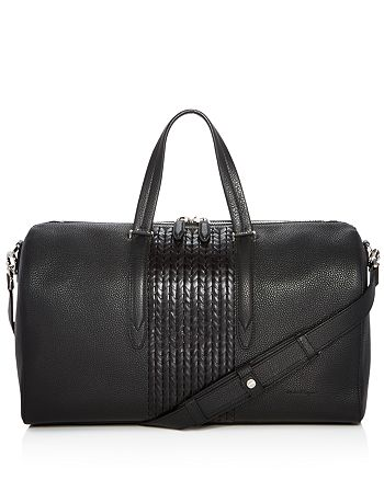 Salvatore Ferragamo - Firenze Pebbled and Woven Leather Duffel Bag