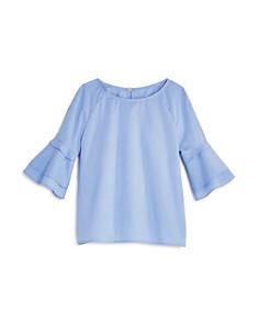 AQUA Girls' Striped Poplin Top, Big Kid - 100% Exclusive - Bloomingdale's_0