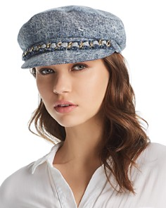 Eugenia Kim Marina Denim Newsboy Cap - Bloomingdale's_0